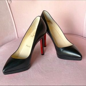 Christian Louboutin Pigalle Plato Red Sole Pumps